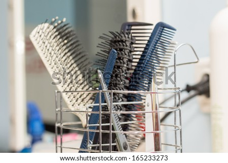 hair combs - stock photo