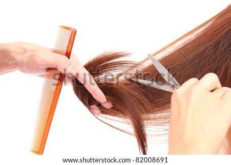Hair cut - stock photo