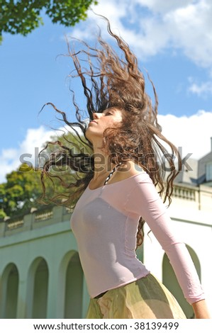 hair in motion - stock photo