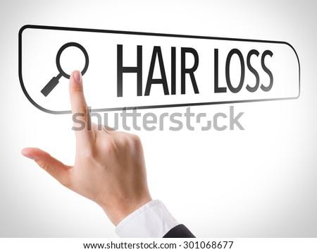 Hair Loss written in search bar on virtual screen - stock photo