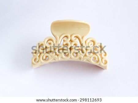 hair-pin accessories on white background - stock photo