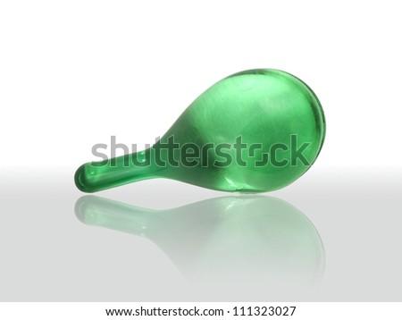 Hair vitamin serum capsule with reflect shadow - stock photo