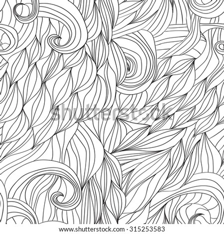 hair waves abstract background Raster image 1 - stock photo