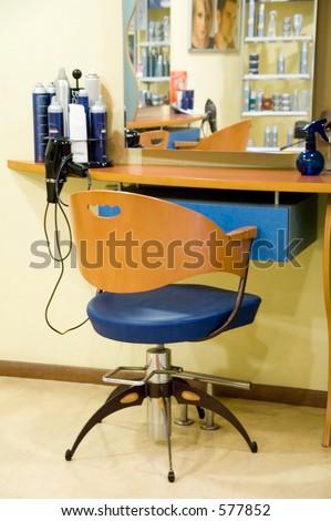 Hairdresser's interior - stock photo