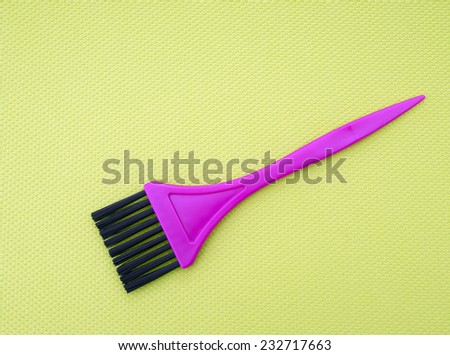 Hairdressing tint, color brush - stock photo