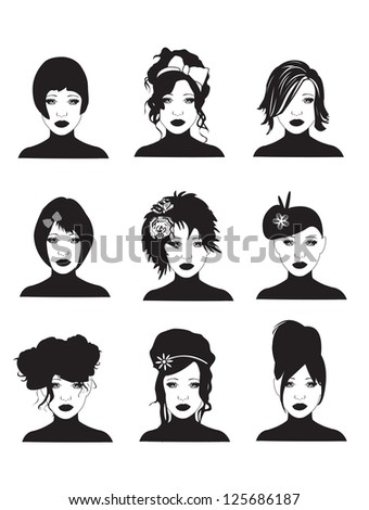 Hairstyles - stock photo