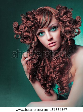 hairstyling extreme - stock photo