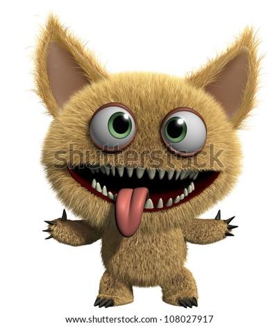 hairy demon - stock photo
