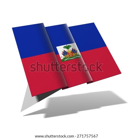 Haiti flag 3D banner - stock photo
