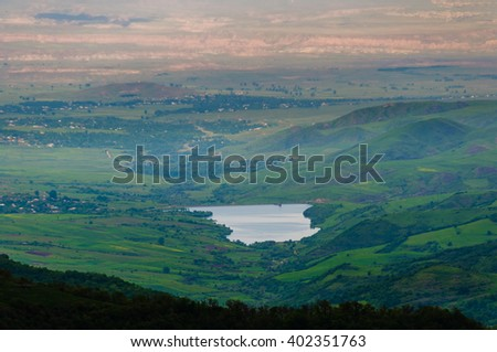 Hakhum reservoir, Armenia - stock photo