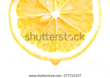 half a lemon - stock photo