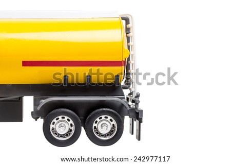 half body of truck with fuel tank isolated on white background with clipping path - stock photo