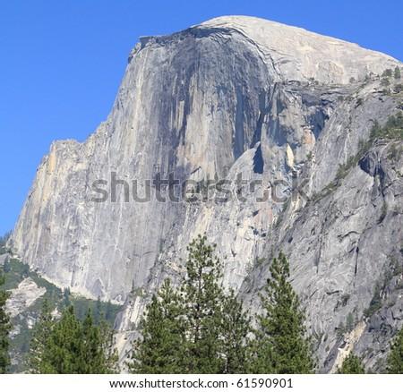 Half Dome bottom view in Yosemite National Park, California - stock photo