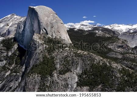 Half dome view, Yosemite national park, USA - stock photo