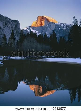 Half Dome Yosemite - stock photo