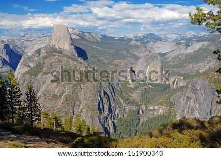 Half Dome, Yosemite National Park, Sierra Nevada Mountains, California - stock photo