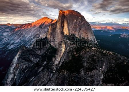 Half Dome Yosemite NP - stock photo