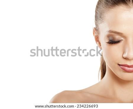 image Ruining blondes fake eyelashes with cum