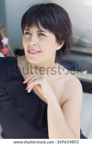 Half length of young handsome caucasian posing  - stock photo