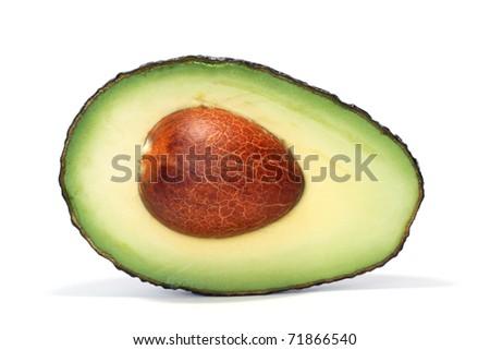 half of fresh avocado - stock photo