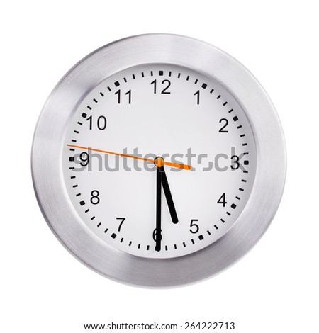 Half past five o'clock on the dial - stock photo