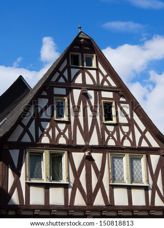 Half-timbered old house in Limburg/Hesse/Germany - stock photo