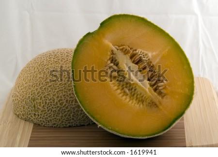 Halfed Melon - stock photo