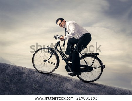 halfway up the hill - stock photo