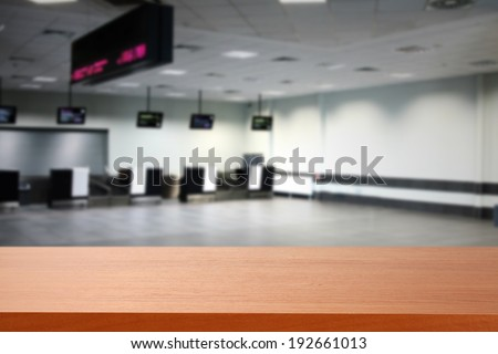 hall and red desk  - stock photo
