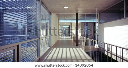 Hall in a modern office building - stock photo