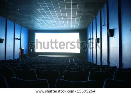 hall of cinema - stock photo