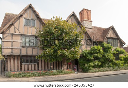 Hall's Croft, the Home of William Shakespeare's Daughter Susanna and her Husband, Dr John Hall, Old Town, in Stratford upon Avon, Warwickshire, England, UK - stock photo