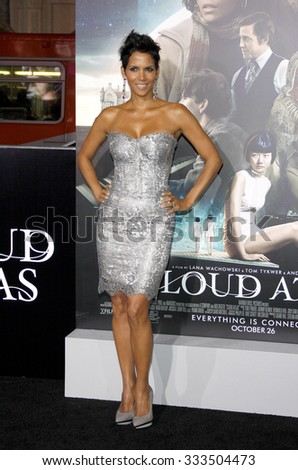 """Halle Berry at the Los Angeles premiere of """"Cloud Atlas"""" held at the ArcLight Cinemas in Los Angeles, USA on October 24, 2012. - stock photo"""