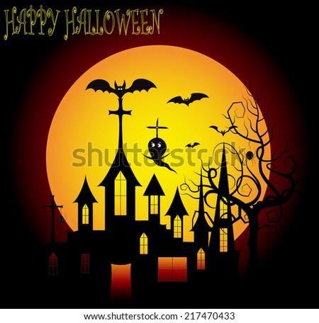 halloween background 1 - stock photo