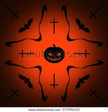 Halloween background, illustration  - stock photo