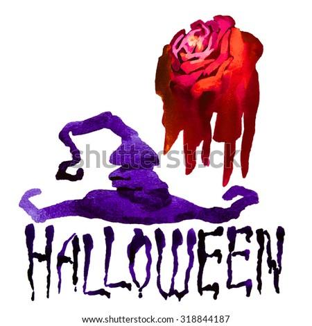 Halloween border for design - stock photo