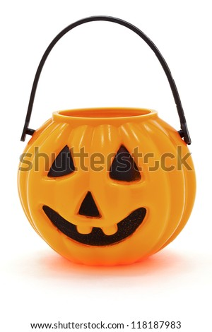 Halloween bucket isolated on white background. - stock photo