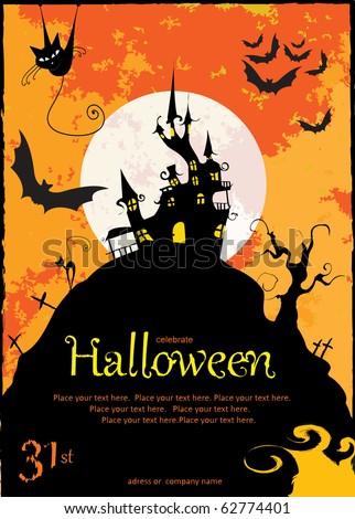 halloween card - stock photo