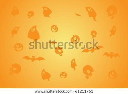 Halloween Elements Background 1 - stock photo