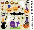Halloween elements. Raster version - stock photo