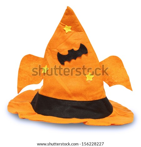 Halloween hat isolated on white background with clipping path - stock photo