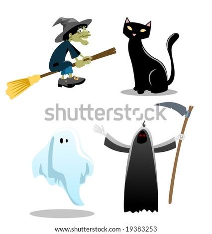Halloween Icons - stock photo