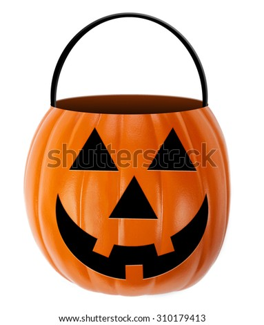 Halloween Jack-O-Lantern Candy Holder - stock photo