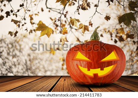 Halloween Jack O Lantern Pumpkin - stock photo