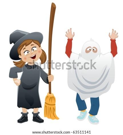 Halloween Kids - stock photo