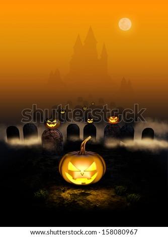 Halloween night - stock photo