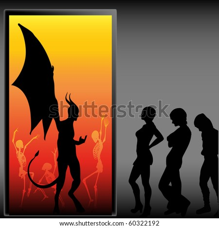 Halloween Party, bitmap background - stock photo