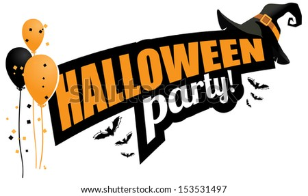 Halloween party design element. EPS 10 vector, grouped for easy editing. No open shapes or paths. - stock photo