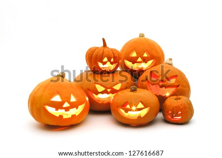 Halloween, pumpkin - stock photo