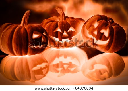 halloween pumpkin background - stock photo